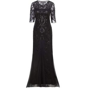 2/3 Sleeve Sequin Party Evening Gown